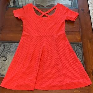 Divided by H&M Skater A-Line Dress -Coral